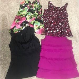 Women's lot of size xs tank tops dressy work